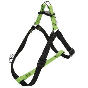 قلاده تنی فرپلاست مدل Easy Harness سایز M سبز-مشکی
