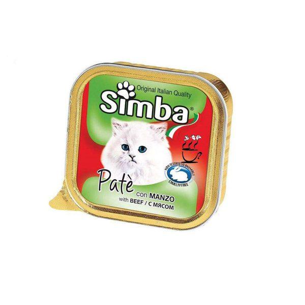 خوراک گربه بالغ سیمبا با طعم گوساله