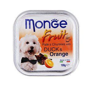 خوراک سگ بالغ مونژ با طعم اردک و پرتقال