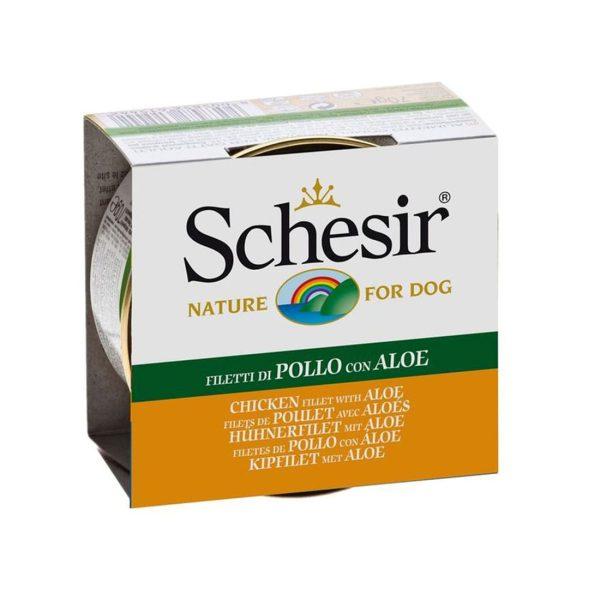 خوراک سگ بالغ شیزر با طعم مرغ و آلوورا