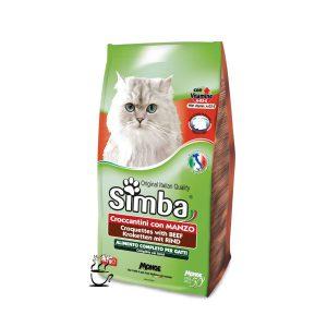 غذای خشک سیمبا مخصوص گربه بالغ با طعم بیف 400 گرم