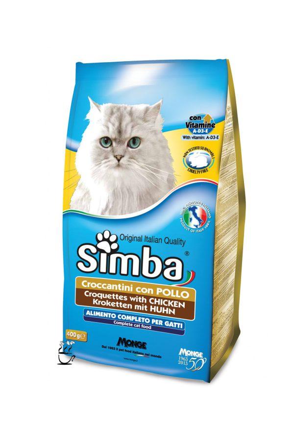 غذای خشک سیمبا مخصوص گربه بالغ با طعم مرغ 400 گرم