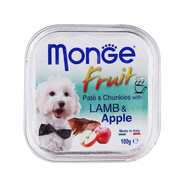 خوراک سگ بالغ مونژ با طعم بره و سیب