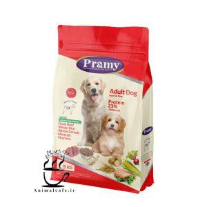 غذای خشک پرامی pramy سگ بالغ با طعم بیف 1.5 Kg
