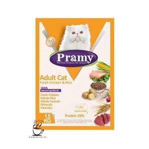 غذای خشک پرامی Pramy مخصوص گربه بالغ با طعم مرغ 1.5 Kg