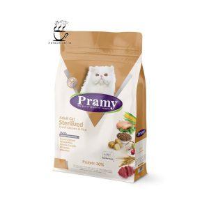 غذای خشک پرامی Pramy مخصوص گربه عقیم 1.5 Kg