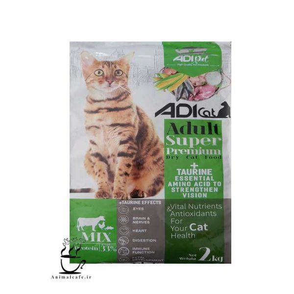 غذای خشک سوپرمیوم ادی Adi مخصوص گربه بالغ 2 Kg