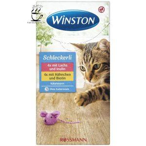 بستنی گربه Winston وینستون با طعم پنیر و گوشت