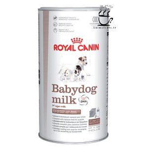 شیرخشک رویال کنین مخصوص توله سگ 400 گرم +شیشه شیر